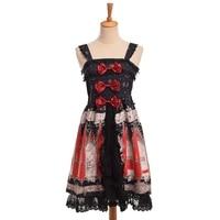 Pink Lolita Dress Women Girls Sweet Bows Lace Trim JSK Cute Suspender Strap Fairy Dresses