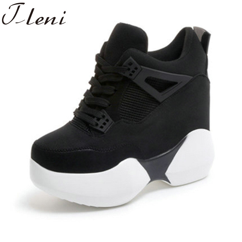 Tleni 2019 Spring women sport Shoes platform shoes sneakers women thick sole shoes Breathable woman wedges shoes white ZK-70Tleni 2019 Spring women sport Shoes platform shoes sneakers women thick sole shoes Breathable woman wedges shoes white ZK-70
