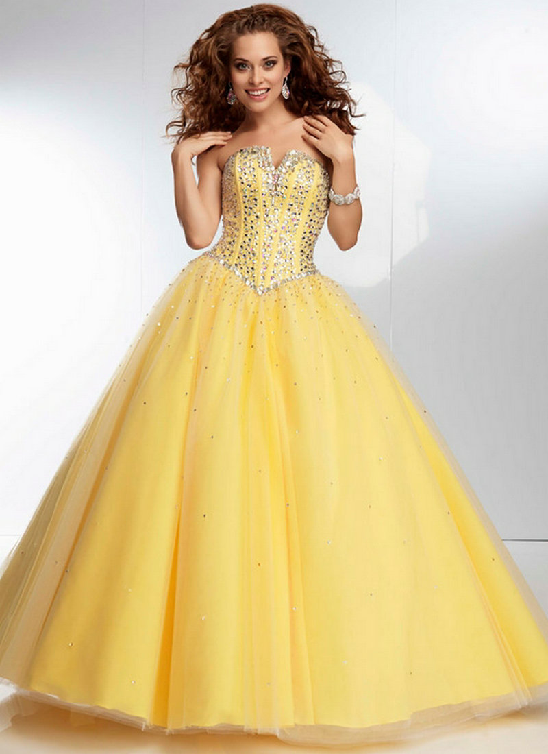Yellow Blue Red Tulle Party Dresses Long Dress Prom Ball
