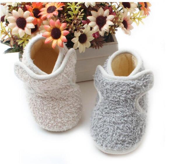 Сапоги мальчиков для девочек мягкое дно теплая зима снегоступы бантом детские кроватки обувь зимний обуви