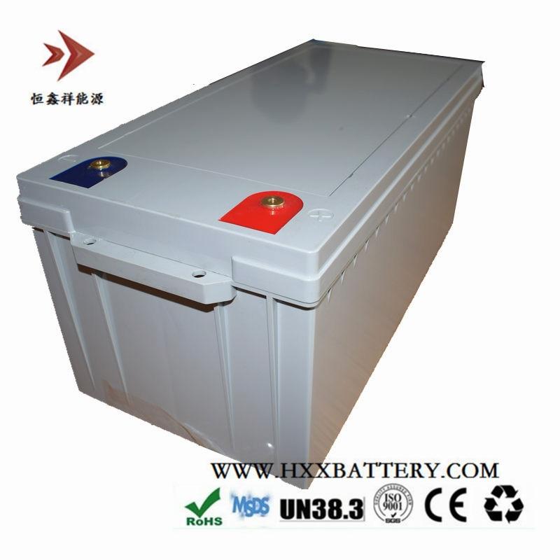 Stockage continu d'énergie solaire d'entretien libre de Cycle profond de décharge d'oem 12 V 24 V 36 V 48 V 200AH LifePo4 batterie BMS Max 200A