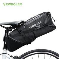 Toptan NEWBOLER Bisiklet Çanta Bisiklet Sele Çanta Pannier Döngüsü Bisiklet mtb Koltuk Çanta 8-10L Gidip Sırt Çantası Su Geçirmez Hiçbir Dudak