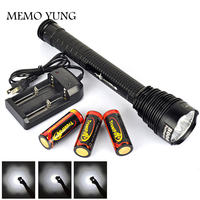 8500LM Cree XML 7 X T6 TrustFires LED Flashlight Lamp exploration torch light tactical lantern with 3*26650 battery +charger