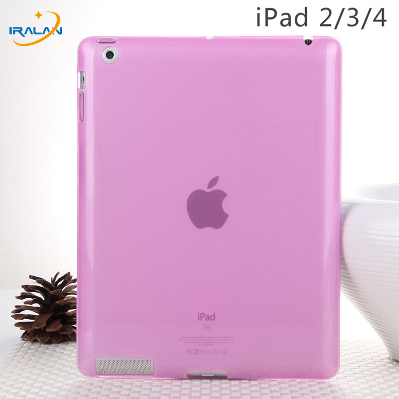"""New Soft Silicon Tpu Back Cover For Apple Ipad 2 3 4 Ultra Slim Clear Translucent Protective Skin Case For Ipad 234 9.7""""+stylus"""