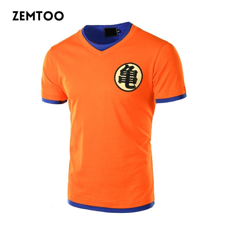 Marca de Dragon Ball Z T camisa de los hombres casuales de los hombres de moda camiseta manga corta Camiseta Anime Goku Cosplay 3D camiseta Homme 4XL ZE0288