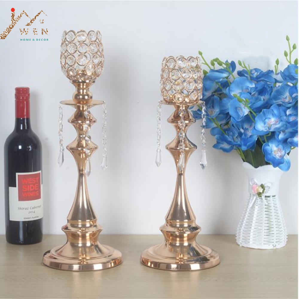 Classic Candle Holders Luxury Crystals Metal Wedding Table Home ...