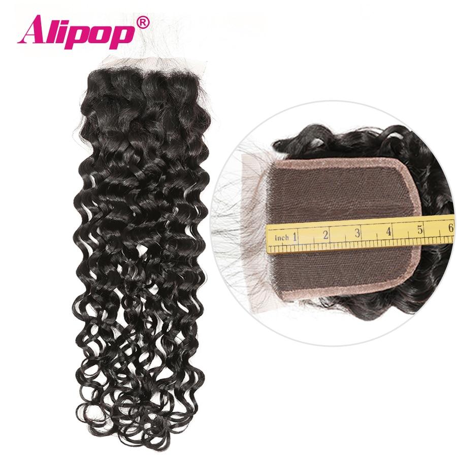 Alipop 5x5 Lace Closure Water Wave Closure Brazilian Hair Middle Free 3 Part 10 18 20