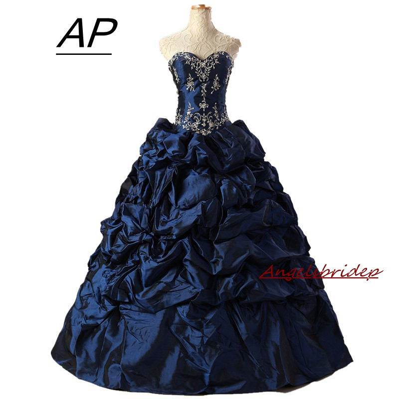 86a12047438 ANGELSBRIDEP Sweetheart Quinceanera Dresses For 15 Years Fashion Embroidery  Beading Full-Length Formal Debutante Gowns