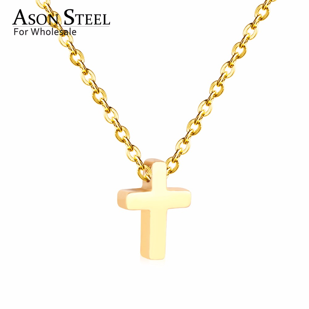 45cm Top 316L Stainless Steel Heart Moon Star CrossPendant Long Link Chains Necklaces Set Gold For Women Choker Necklace Jewelry 19