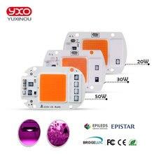 YXO YUXINOU LED COB שבב עבור לגדול צמח אור מלא ספקטרום קלט 220V AC 20W 30W 50W עבור מקורה צמח שתיל לגדול ופרח