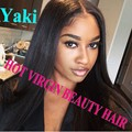 Cheap 8A Yaki Glueless Lace Front Human Hair Wigs/ Brazilian Full Lace Human Hair Wigs For Black Women/Human Hair U Part Wigs
