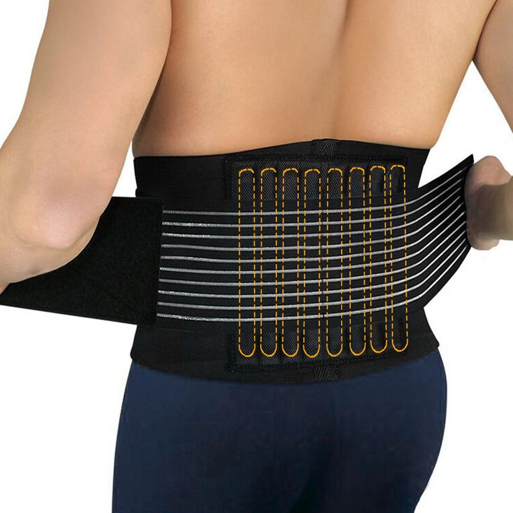 Inférieur réglable Soulagement de La Douleur Thérapie Magnétique Retour Soutien de Taille Lombaire Brace Ceinture Double Pull Sangle Gym Sport Accessoires