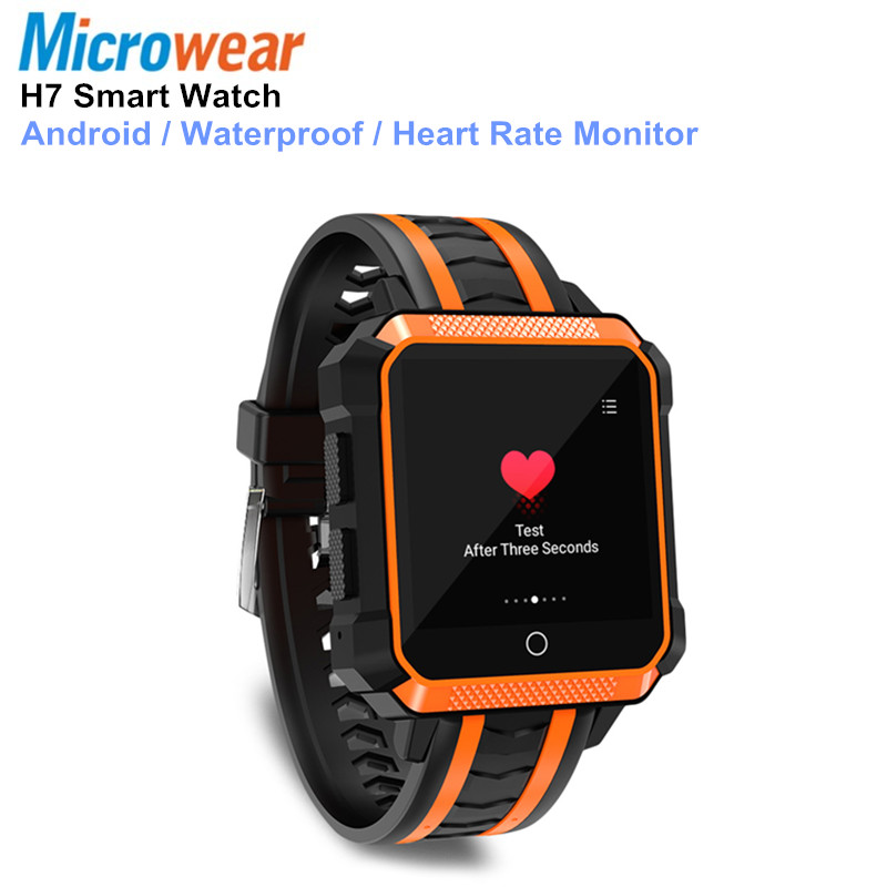 Microwear H7 Smart Watch Waterproof Android 4G Bluetooth Sport Smartwatch Android Waterproof Mtk6737 Camera Outdoor Watch