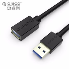 ORICO CEF3 USB3.0 AM to AF Extension Cable 1.0/1.5 Meter Black/White for SB Keyboard, Mouse, U-disk, Card Reader, etc.