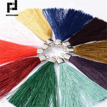 BASEHOME 10pcs/lot 9cm Long Tassel Cord Handmade Thread Tassels Charms with End Cap for DIY Earring Jewelry Accessories
