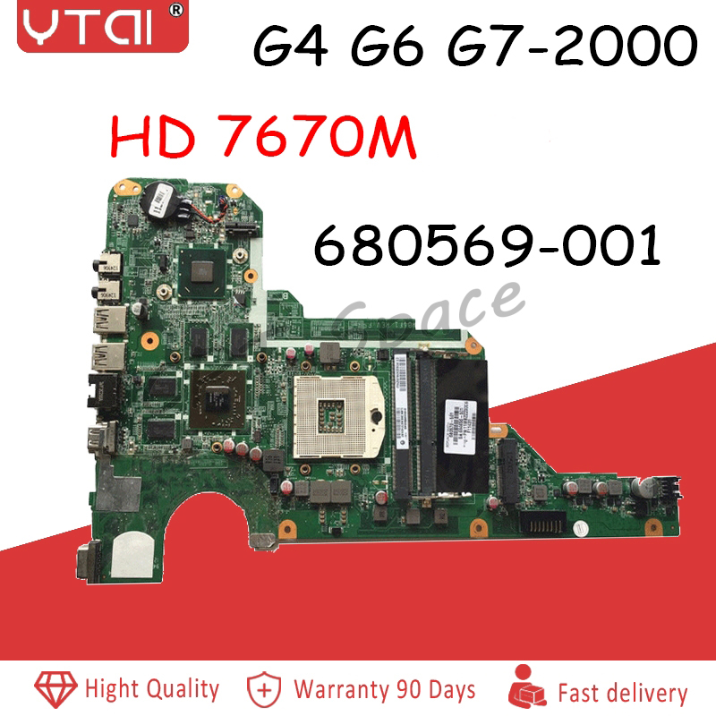 680570-001 Motherboard For HP G4-2000 G6-2000 G7-2000 Laptop Motherboard 680570-501/680569-001 DA0R33MB6F1 HM76 <font><b>HD</b></font> <font><b>7670M</b></font> 1GB image