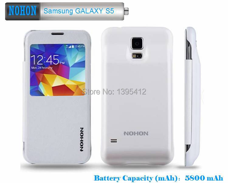 the latest 2d047 31981 US $31.95 |Free shipping NOHON good quality 5800mAh power bank case for  Samsung Galaxy S5 backup battery large capacity power phone case-in Mobile  ...