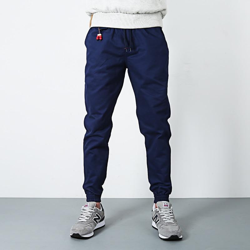 New High Quality cotton Jogger denim Pants Men Fitness Bodybuilding Gyms slim pencil Pants Runners Clothing Elastic Sweatpants