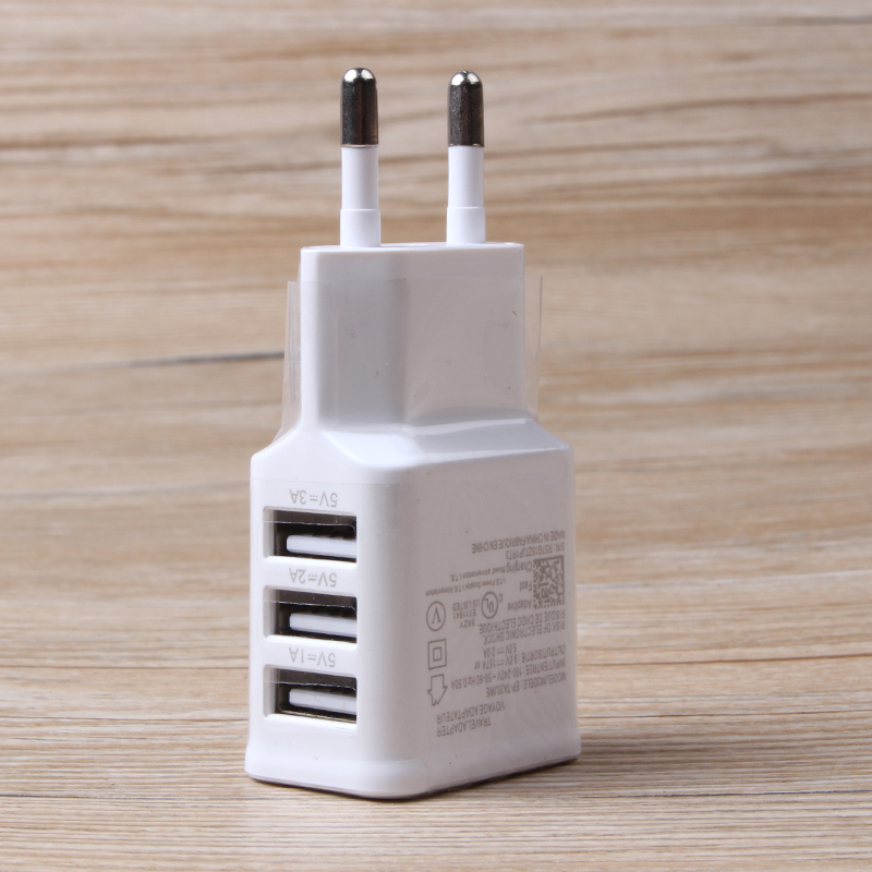 Adapter 2A 5V 3 Ports EU Plug Wall USB Charger cable for iPhone 4s 6 6s 5 5s Samsung gal ...