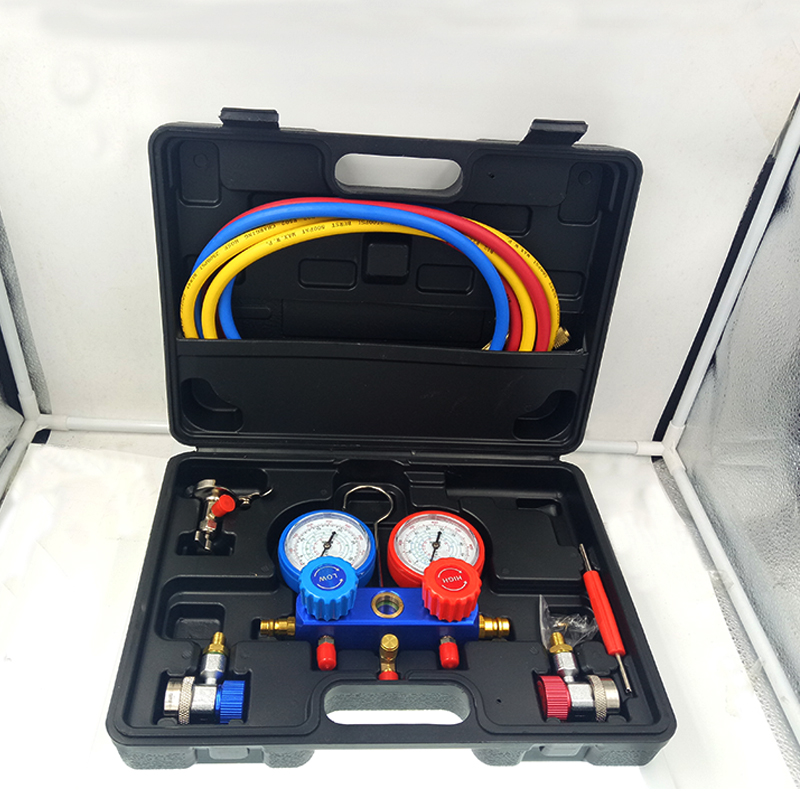 Refrigeration Air Conditioning Manifold Gauge Set Maintenance Tools R134A Car Set With Carrying Case AC Diagnostic refrigerantRefrigeration Air Conditioning Manifold Gauge Set Maintenance Tools R134A Car Set With Carrying Case AC Diagnostic refrigerant