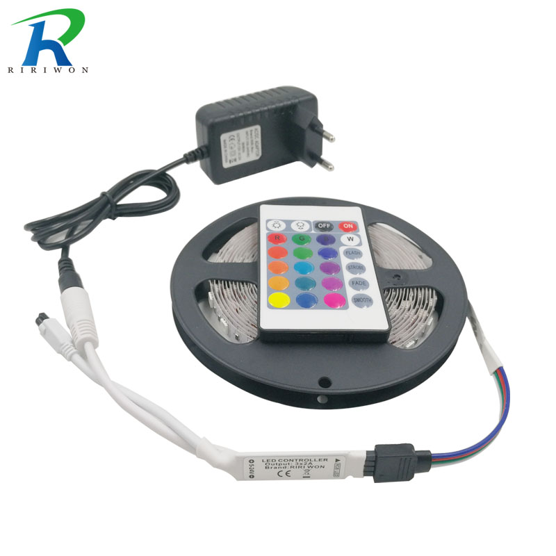 RiRi won SMD2835 RGB LED Strip Light 5m 10m 15m 20m LEDs Lighting Tape Diode Waterproof strip DC 12V Power adapter set Christmas
