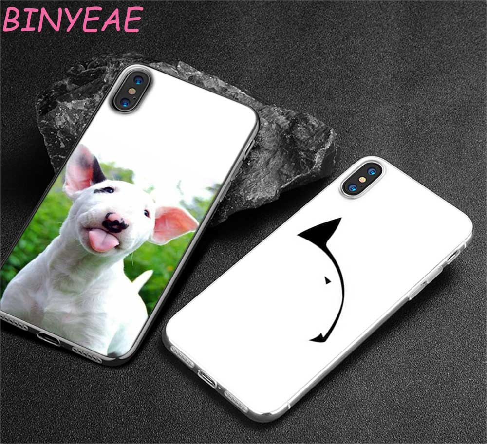 BINYEAE Bullterrier bull terrier Style Clear Soft TPU Phone Cases for Apple iPhone X 8 7 6 6s Plus 5 5S SE 5C