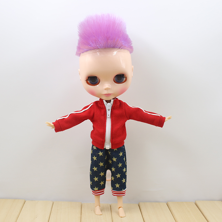 Free shipping Nude blyth doll with joint body Neo cute fashion male blyth dolls free shipping neo blyth nude doll light gold hair with bangs suit for diy fashion dolls