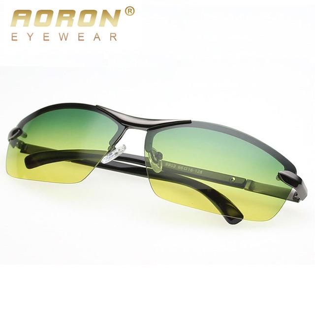 2017 Aoron Nova Marca Designer Homens Dia óculos de Visão Noturna Óculos de Condução Moda Óculos Polarizados Óculos de Sol Óculos Óculos Óculos de Sol 9903