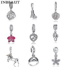 INBEAUT Famous Brand 925 Sterling Silver Animal&Heart&Flower Charms Fit Pandora Bracelet Women Necklace Pendant Female Jewelry