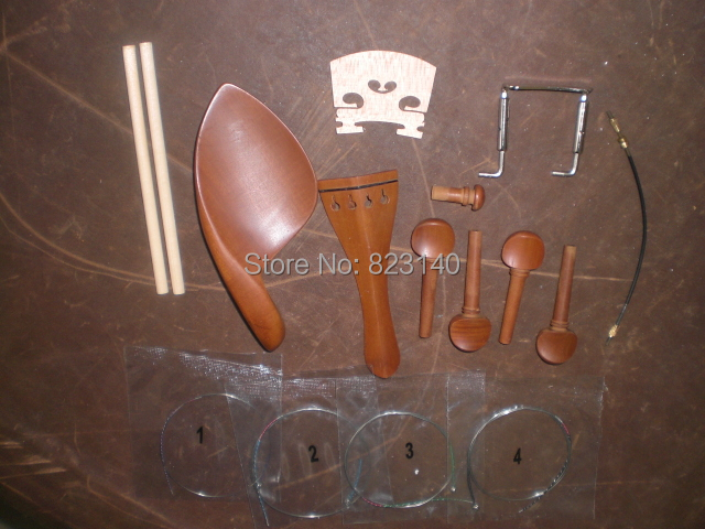 5 Sets Jujube wood A type Violin Fittings 4/4 with Bridge, String, Sound post, Tail gut видеокарта gigabyte rx 570 gaming 4g mi gv rx570gaming 4gd mi 4gb 1244 mhz amd rx 570 gddr5 7000mhz 256bit pci e dvi hdmi 3xdp