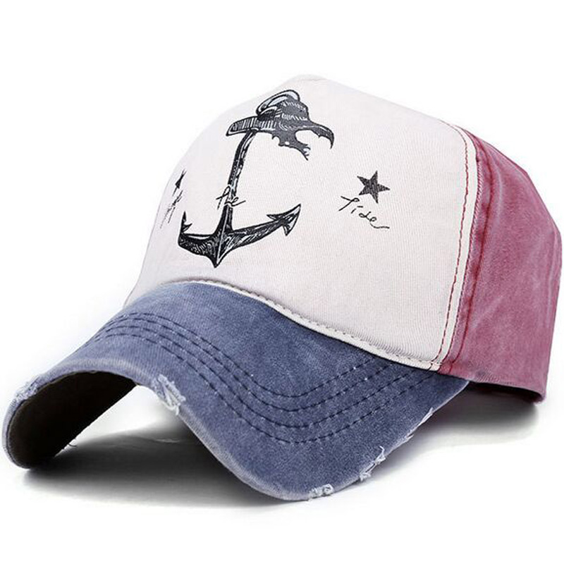 2017 Spring Autumn Couples Hat For Man And Woman Pure Cotton baseball Caps Do Old Pirate Ship Anchor Brand Hats 7 colors 8102