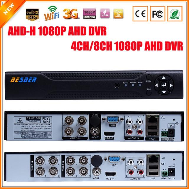 Новинка 1080 P AHD-H 4 канала AHD DVR Регистраторы видео Регистраторы 8-канальный AHD DVR 1080 P ahdh для 1080 P AHD Камера