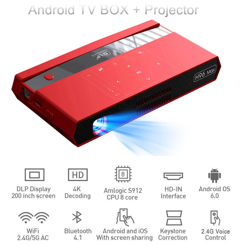 h96 max tv box Projectors pico dlp h96max smart android 6.0 amlogic s912 tv box 2GB 16GB BT4.1 2.4/5.0Ghz Wifi 150 lumens h96-ph96 max tv box Projectors pico dlp h96max smart android 6.0 amlogic s912 tv box 2GB 16GB BT4.1 2.4/5.0Ghz Wifi 150 lumens h96-p