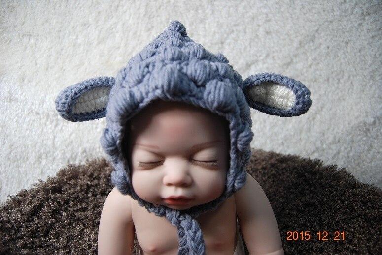 ᐂMano pura lana de punto niños Elf sombreros, ganchillo recién ...