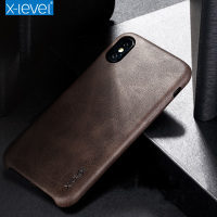X Level High Quality Vintage Luxury PU Leather Phone Case For Apple IPhone X Free Shipping