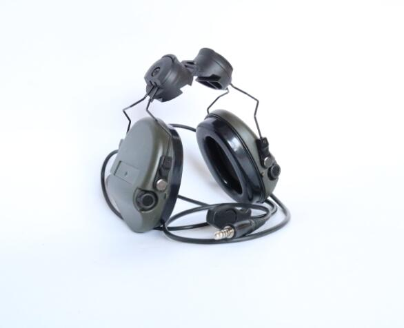 TAC SKY SORDIN Helmet fast rail bracket Silicone earmuff version Noise reduction pickup headset FG