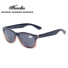 Bifocal γυαλιά ανάγνωσης Γκρι φακός μόδας Άνδρες και γυναίκες άνοιξη μεντεσέδες Πλαστικά πρεσβυωπία γυαλιά υπαίθρια ψάρια γυαλιά ηλίου