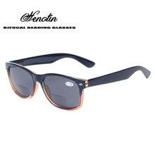 69b510e7f5 Bifocales gafas de lectura Grey lente de moda de los hombres y las mujeres  de la primavera bisagra de plástico la presbicia gafa.