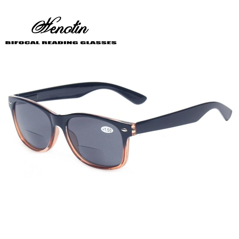 Gafas de lectura lentes bifocales grises moda hombres y mujeres primavera bisagra plástico presbicia gafas de sol de pesca al aire libre