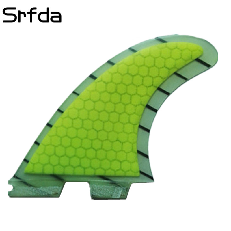 2015 High quality FCS II fins with fiberglass honey comb material for surfing size  M