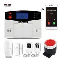 DAYTECH Home Security GSM Alarm System Smoke Fire PIR DIY Burglar Wireless Alarm System Sensor Motion Detector Siren Sensor Kit