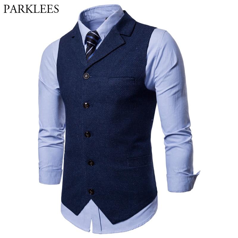 2018 Fashion Suit Vest Men Formal Business Wedding Dress Vests Mens Brand Slim Fit Sleeveless Waistcoat For Men Colete Masculino