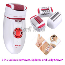 3in1 Rechargeable Women Electric Epilator Epilation Foot Callus Remover Lady Shaver Hair Removal for Armpit Bikini Leg Body Care