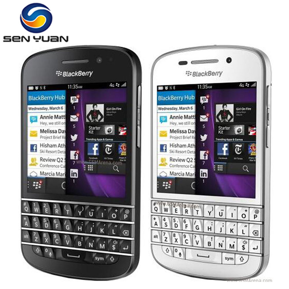 "Blackberry Q10 Cell Phone Mobile phone 3.1 ""Dual Core 8 MP 2 GBRAM 16 GB ROM 3G"