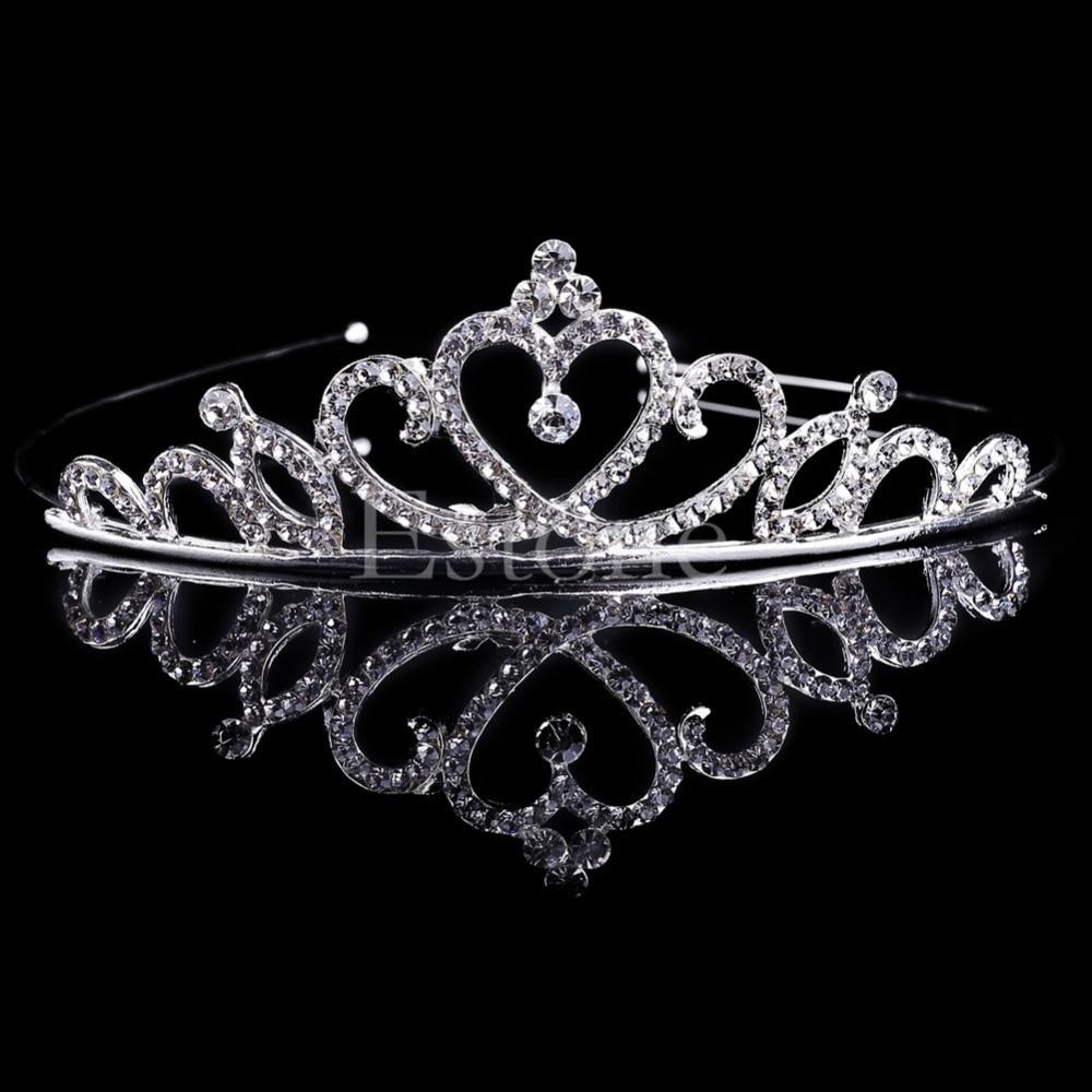 New 1PC Girl Bridal Princess Wedding Hair Accessories Crystal Rhinestone  Crown Headband Stunning Crystal Tiara Wedding Crown gai-in Hair Jewelry  from ... cb54b58b7243