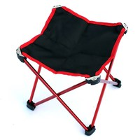 1 PCS Camping Fishing Chair Small Seat Beach Chairs Outdoor Aluminum Alloy Ultralight Portable Folding Stool