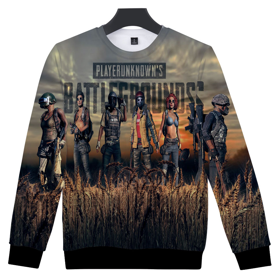 Men Pubg Sweatshirt Hoodies Mens Winner Winner Chicken Dinner Helmet Emblem Hoodies PUBG 3D Harajuku Game streetwear Tops