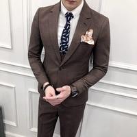69c1ba146714c Jacket Pants High End Brand Formal Groom Wedding Dress Suits Male Suit 2  Piece Set