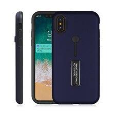 Shock Absorption Anti Skid TPU+PC Bracket Phone Case For iPhone X Proof