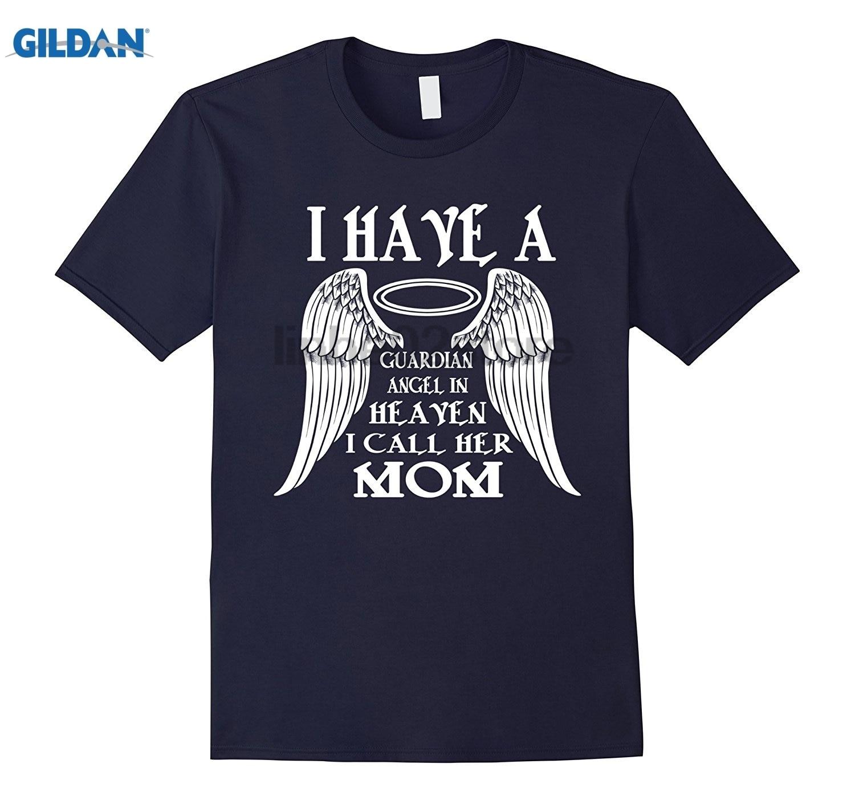 GILDAN I have a guardian angel in heaven I call her Mom glasses Womens T-shirt Dress female T-shirt